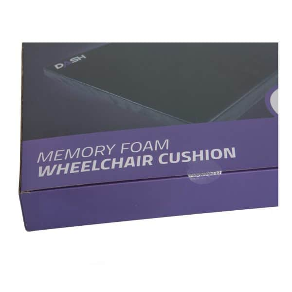 Dash Memory Foam Wheelchair Cushion in Black 5