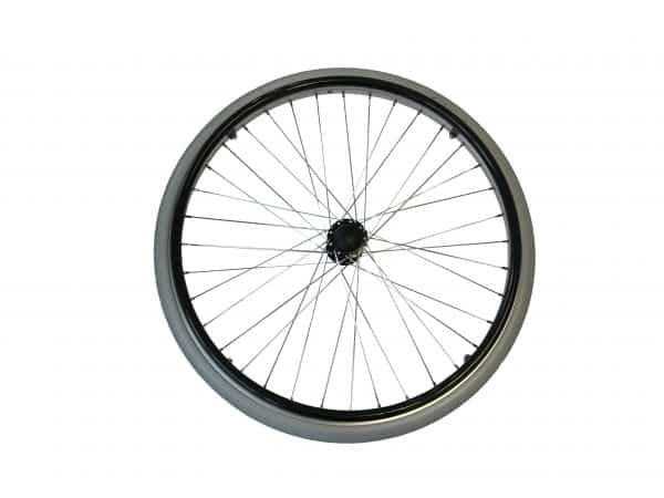 "8TRL 22"" Fixed Wheel with Puncture Free Tyre and Black Handrim 4"
