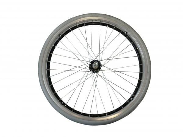 "8TRL 22"" Fixed Wheel with Puncture Free Tyre and Black Handrim 2"