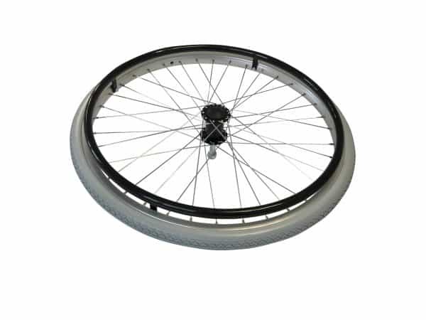 "8TRL 22"" Fixed Wheel with Puncture Free Tyre and Black Handrim 1"